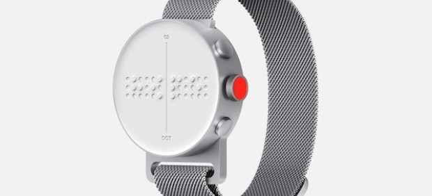 El Dot Watch, un 'smartwatch' en braille